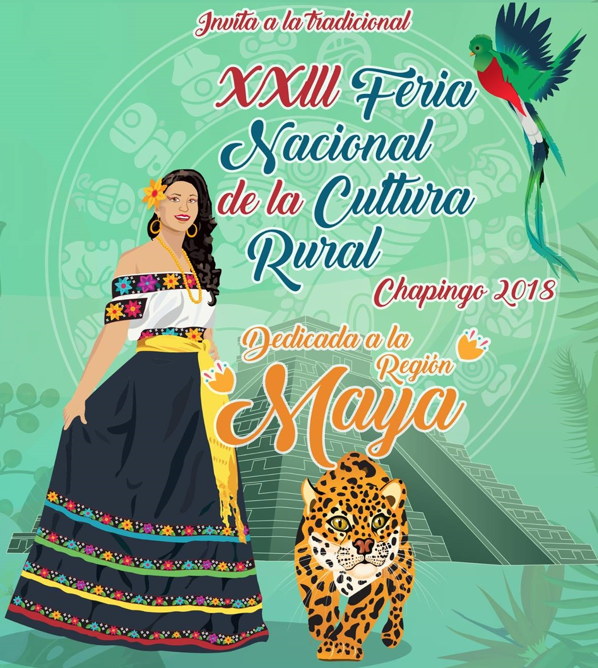 Invitación a la XXIII Feria Nacional de la Cultura Rural Chapingo 2018.