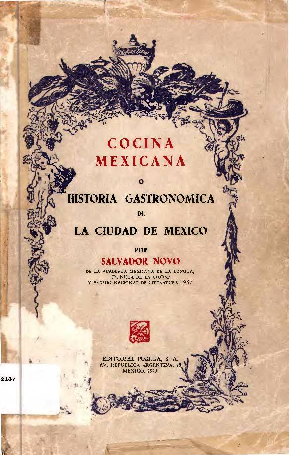 Cocina Mexicana o Historia Gastronómica de la CDMX – LIBRO DIGITAL en PDF