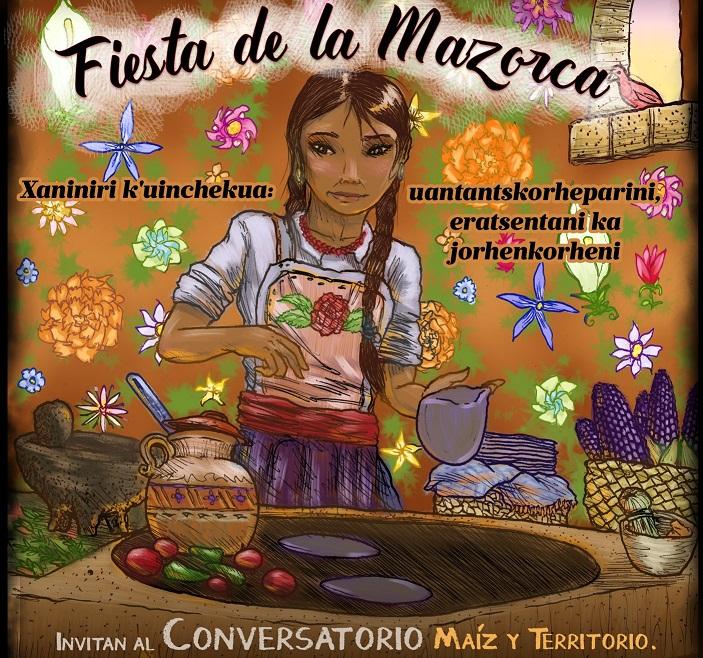 Asiste a la FIESTA DE LA MAZORCA de la comunidad indígena de Nurío, Michoacán.