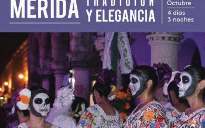 """Mérida nos espera para celebrar el """"Día de Muertos"""" en una experiencia única. Del 25 al 28 de octubre."""