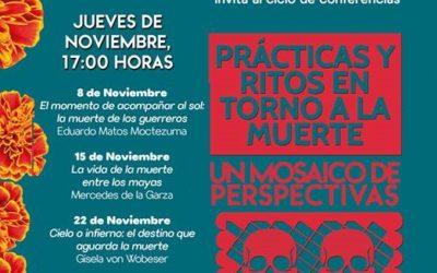 """""""Prácticas y ritos en torno a la muerte"""" Invitan a ciclo de CONFERENCIAS."""