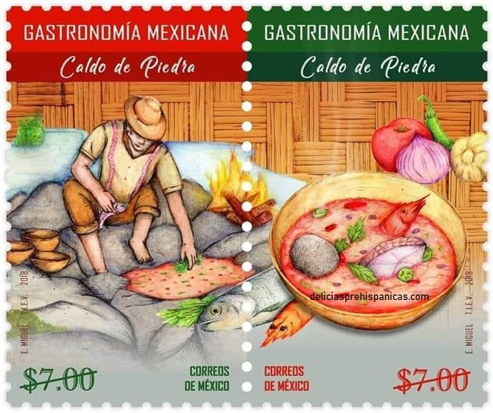 Emiten estampillas postales dedicadas a la gastronomía Mexicana.