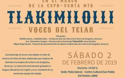 "Presentación del cortometraje ""Tlakimilolli: Voces del telar"" en la Expo-venta del Museo Textil de Oaxaca"