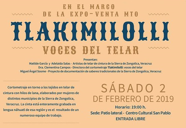 Presentación del cortometraje «Tlakimilolli: Voces del telar» en la Expo-venta del Museo Textil de Oaxaca