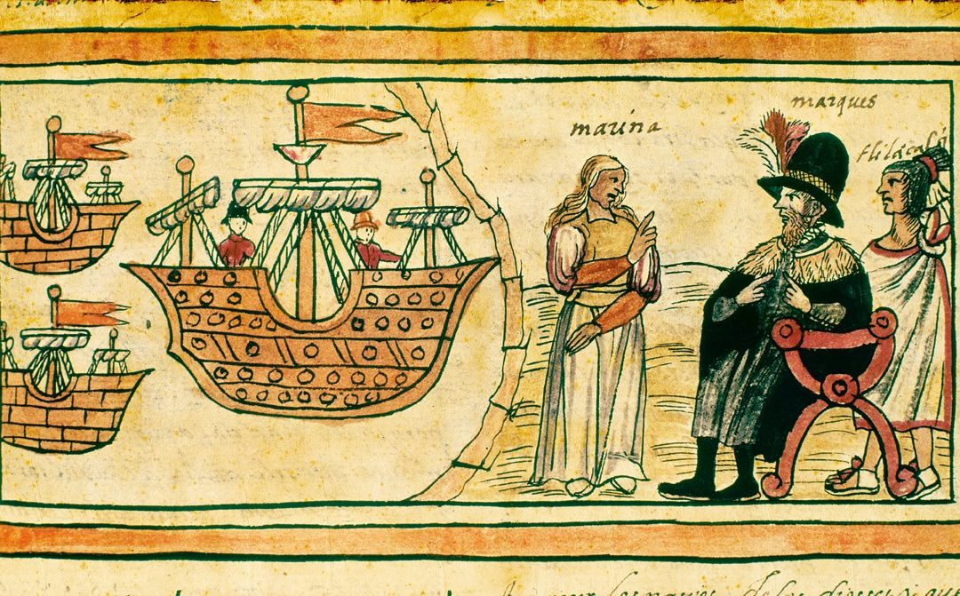 Finales de abril de 1519. Cacao y vino, tortilla y bizcocho.