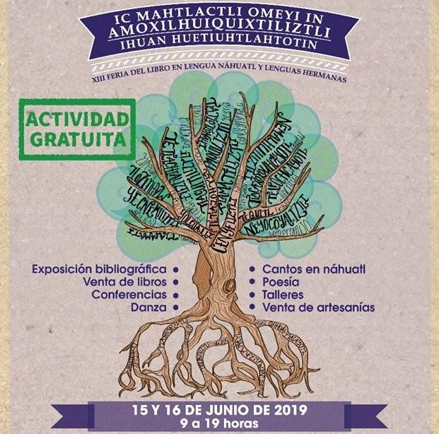 Asiste a la Xlll Feria del libro en lengua NAHUATL y lenguas hermanas