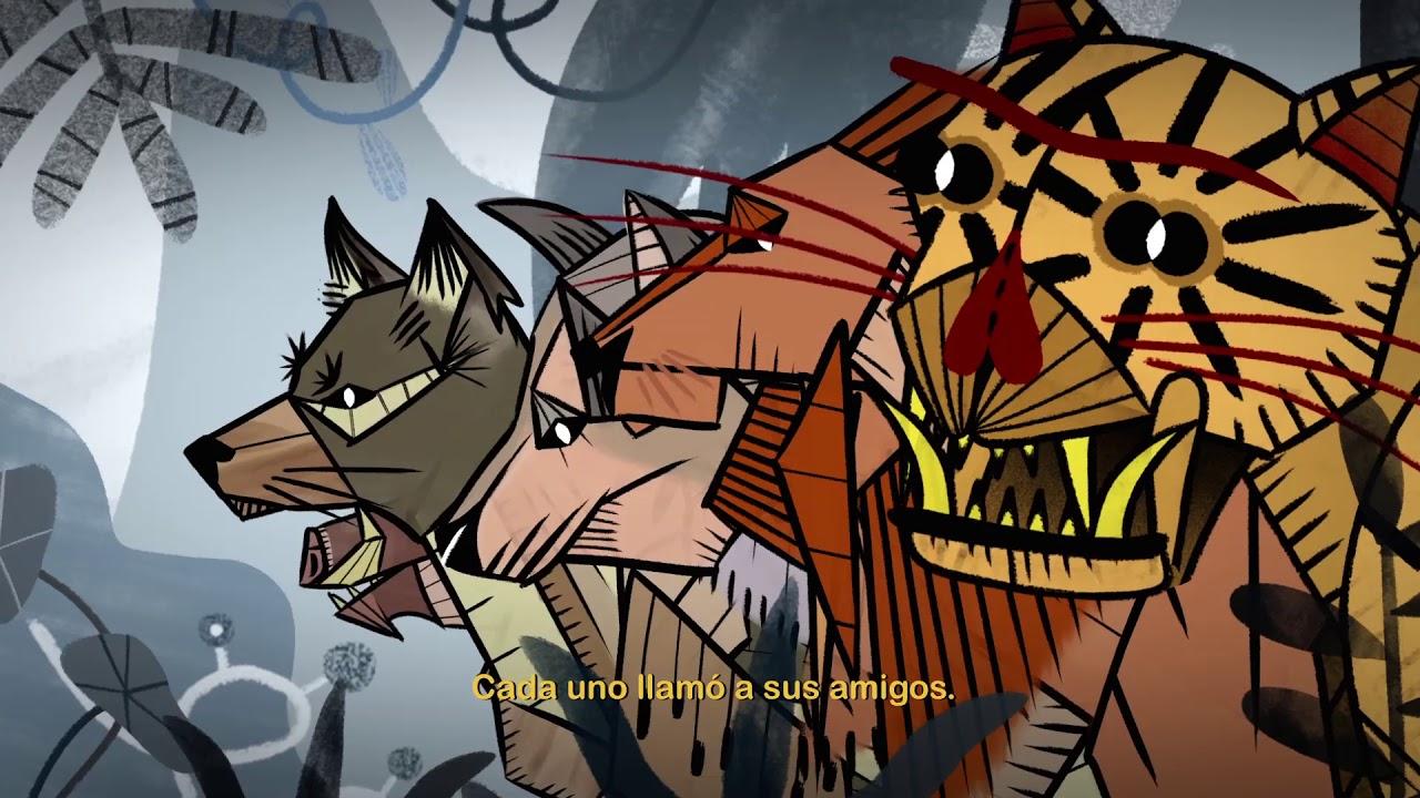 El Tigre y el Grillo. Cuento animado en lengua Tojolabal; Chiapas.