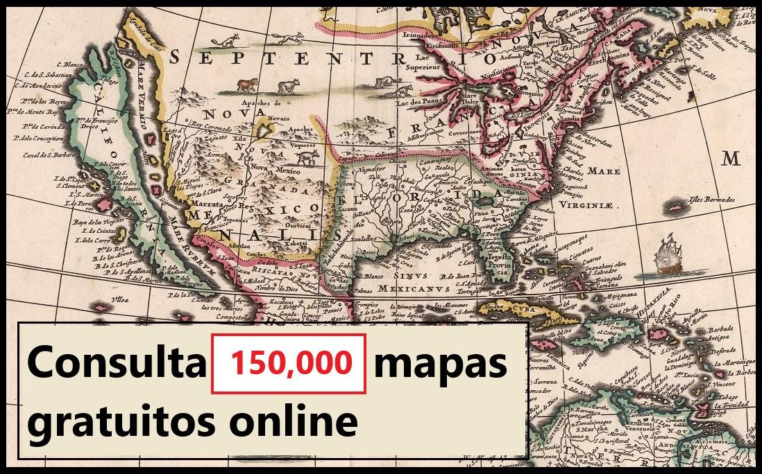 Consulta sin costo 150,000 mapas online en alta resolución