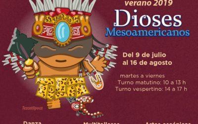 Taller de verano para todas las edades. «Los dioses mesoamericanos» CDMX.