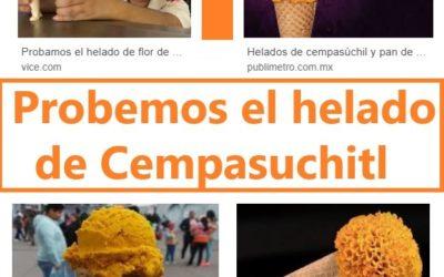 Probemos el helado de flor de cempasúchil