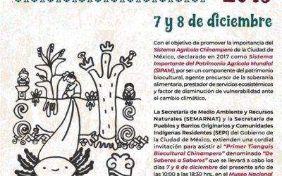 Saberes y Sabores en el Primer Tianguis Biocultural Chinampero