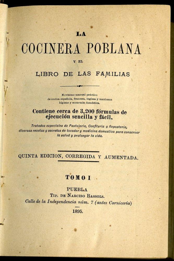 La Cocinera Poblana y el libro de las familias