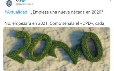 RAE aclara: Año 2020 «NO» es el inicio de la nueva década