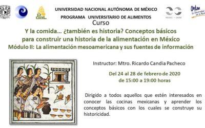 Inscríbete al CURSO: Y la comida… ¿también es historia? Conceptos básicos para construir una historia de la alimentación en México.