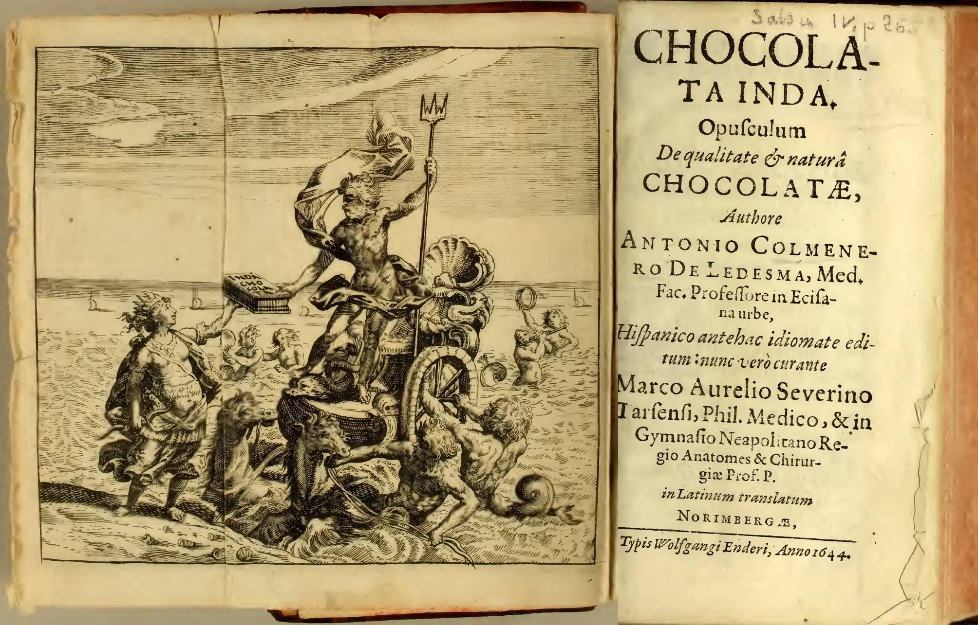 Curioso tratado de la naturaleza y calidad del chocolate publicado en el año 1644