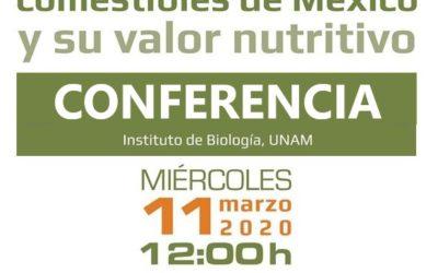 El SEMINARIO «Los insectos comestibles de México y su valor nutritivo» será transmitido en vivo.