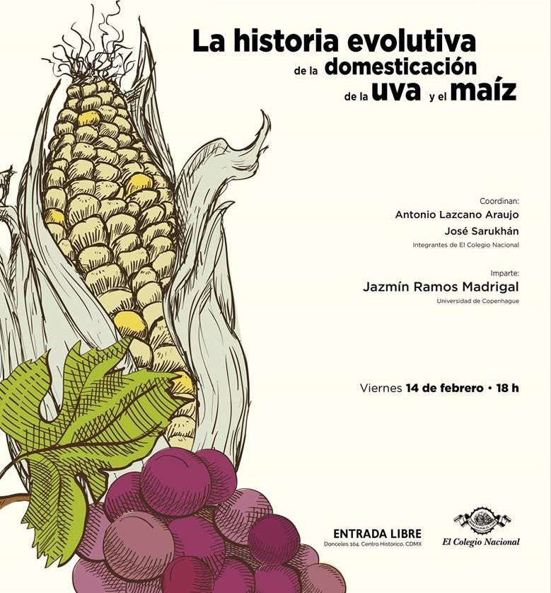 CONFERENCIA La historia evolutiva de la domesticación de la uva y el maíz