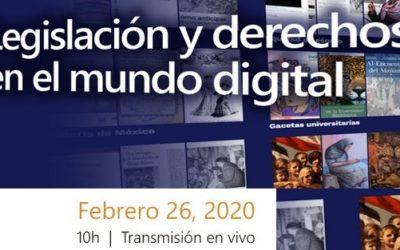 «Legislación y derechos en el mundo DIGITAL: Repositorios» Transmisión en vivo