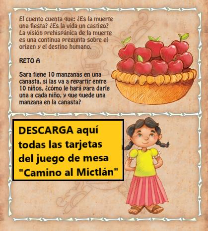 DESCARGA las tarjetas del juego de mesa «Camino al Mictlán» ¡Que te diviertas!