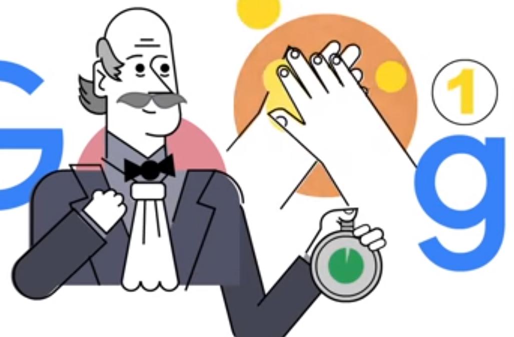 Google hace un homenaje al médico Ignaz Semmelweis y la importancia del lavado de manos