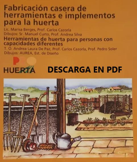 LIBRO DIGITAL «Como fabricar herramientas para tu huerto en casa».