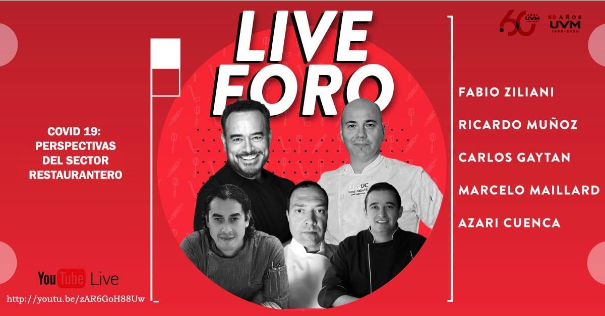 Transmisión EN VIVO con Ricardo Muñoz Zurita «Covid-19 Conversatrorio: Perspectivas del Sector Restaurantero» con los chefs Michellin