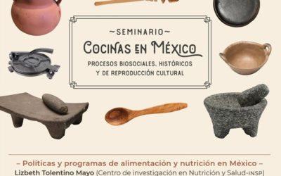 No te pierdas la sesión virtual del «Seminario COCINAS en MEXICO. Procesos biosociales, históricos y de reproducción cultural» Sin costo