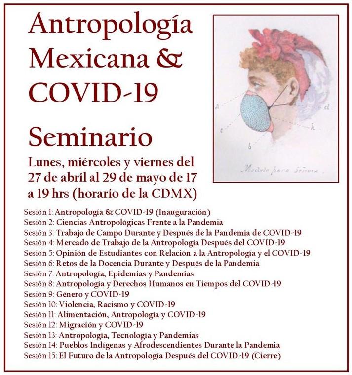 Antropología Mexicana & COVID-19; seminario virtual del 27 de abril al 29 de mayo