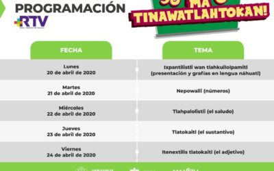 """Transmiten a nivel nacional cursos de """"Náhuatl, Inglés y Matemáticas para Todos"""" por internet y Facebook Live"""