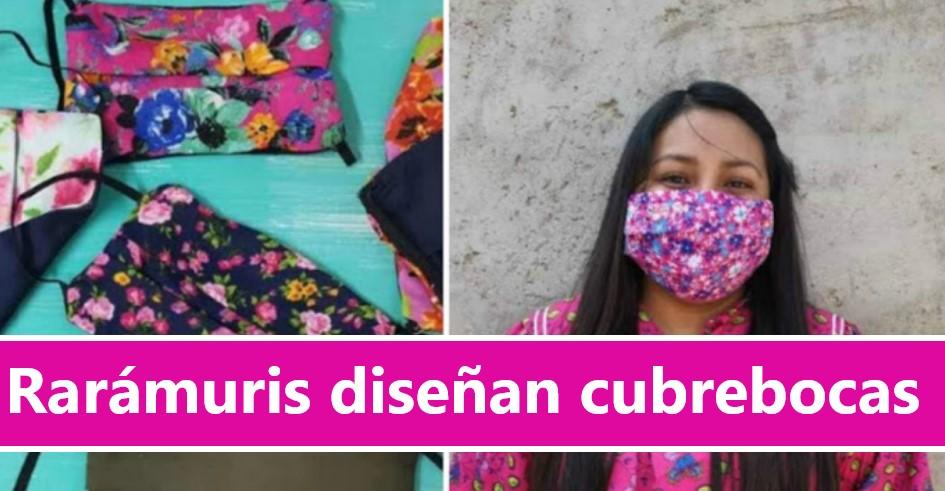 Mujeres rarámuris que diseñan y fabrican CUBREBOCAS artesanales, hacen envíos en México, Estados Unidos y Canadá