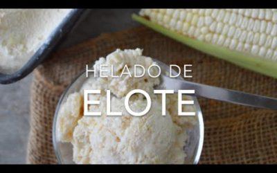 Como hacer helado o nieve artesanal de ELOTE #maíz