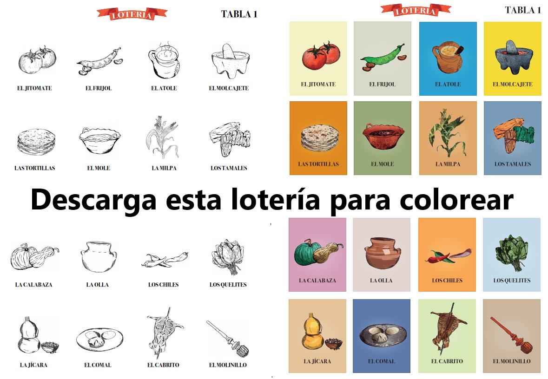 DESCARGA esta ¡Lotería para colorear! … (o ya coloreada). Tradicional juego de mesa mexicano que a todos divierte