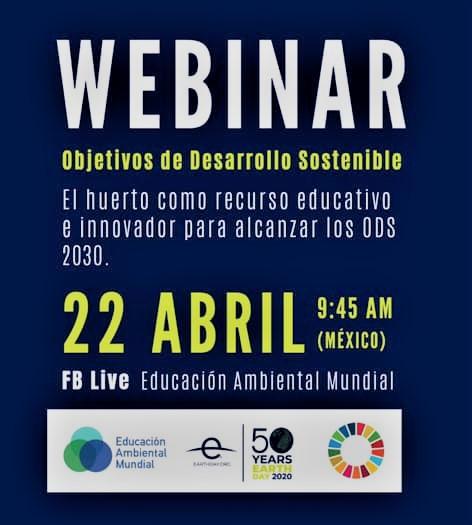 Webinar «El huerto como recurso educativo e innovador para alcanzar los ODS.»