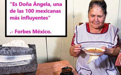 """Reconocen a Doña Ángela ( «De mi rancho a tu cocina») como una de las """"100 mexicanas más influyentes en 2020″ .-Forbes México"""