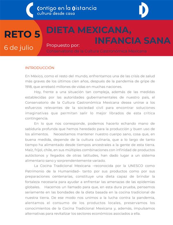 CONVOCATORIA | CCGM y @cultura_mx lanzan Reto Global «Dieta mexicana, infancia sana». Participa