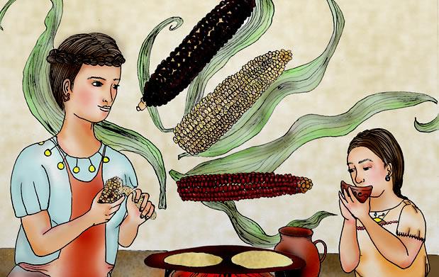 Descarga el libro «Cuentos para saborear: alimentos SAGRADOS mexicanos, basados en leyendas nahuas y wixárikas»