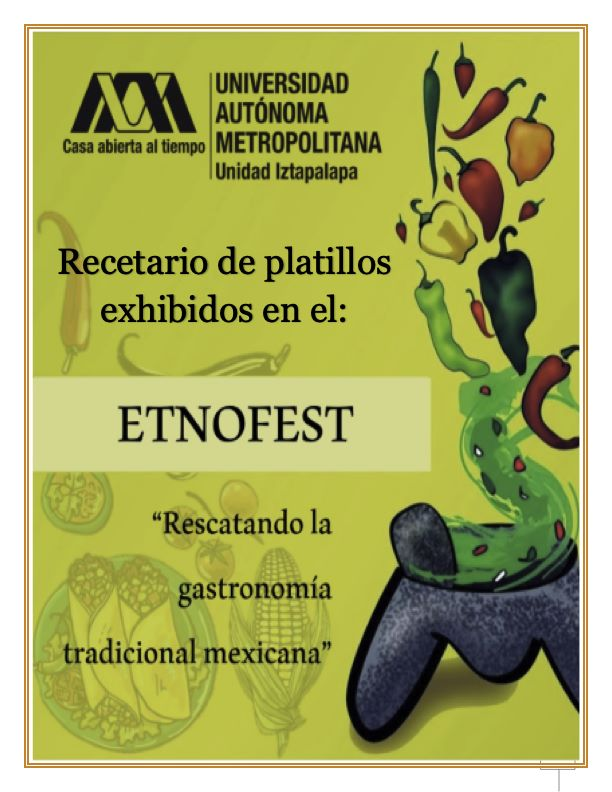 DESCARGA el Recetario «ETNOFEST – Rescatando la gastronomía tradicional mexicana» UAM Iztapalapa