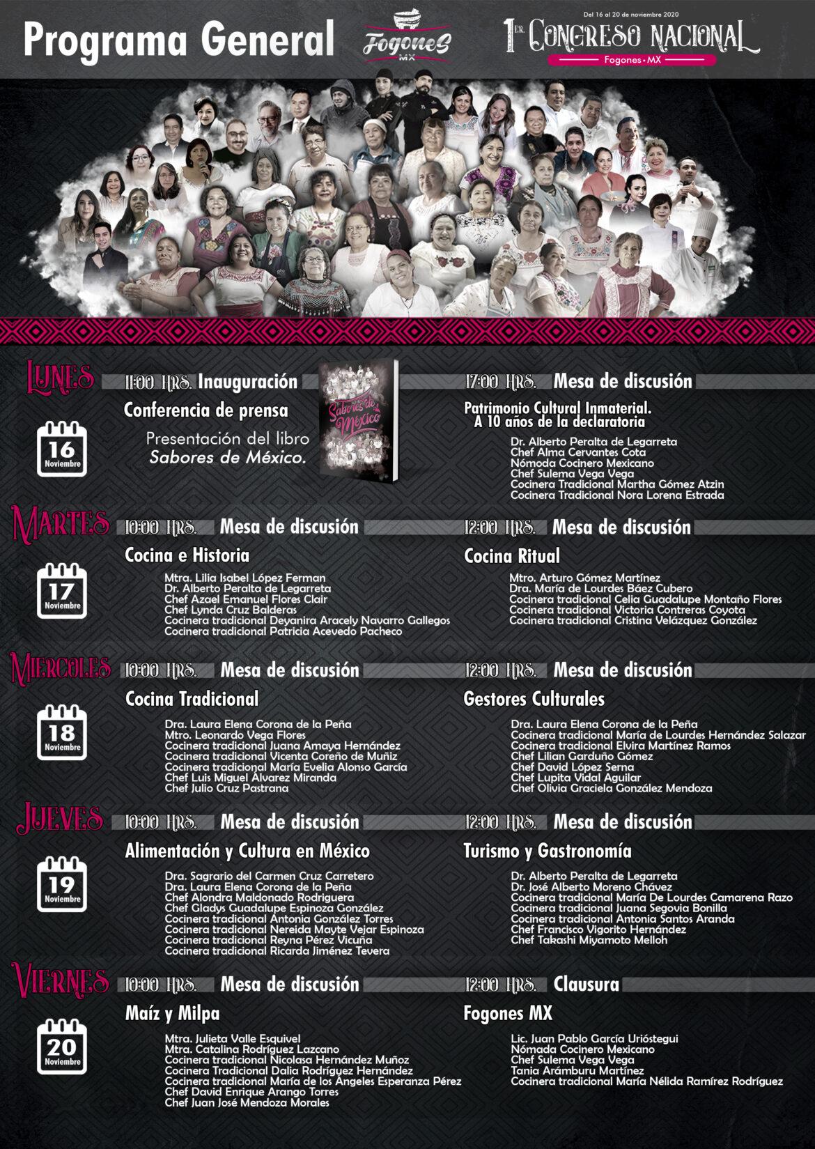 Invitan a participar en el 1er Congreso Nacional Fogones MX / Presentación del libro «Sabores de México»